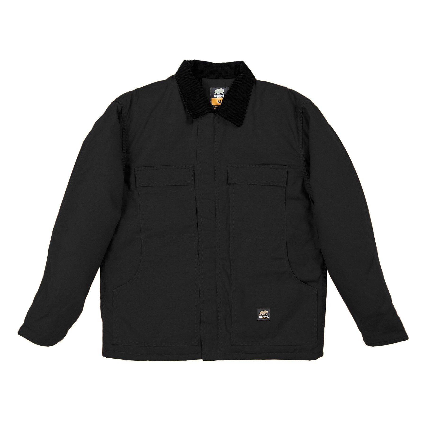 Berne-Apparel-Big-Tall-Chore-Coat-Black