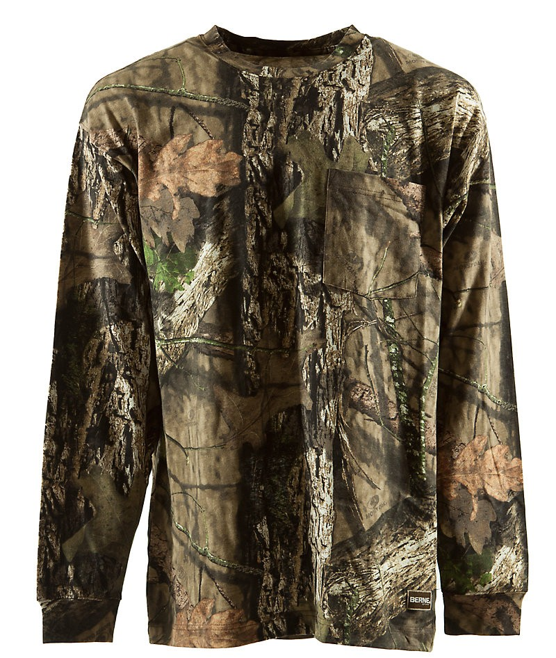 Berne apparel big and tall longshot long sleeve camo for Big and tall fishing shirts