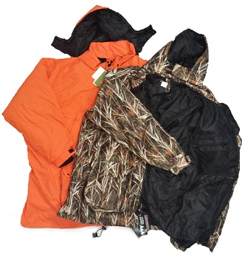 Burly 4 In 1 Waterproof Windproof Insulated Hunting Parka