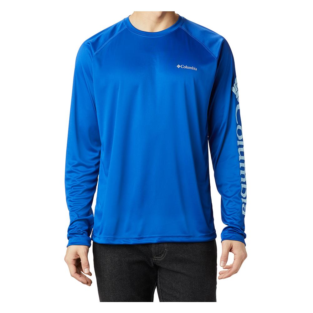 Columbia-Sportwear-Fork-Stream-Long-Sleeve-shirt-Quick-Dry-Big-Tall-Fish-UPF-BigCamo-Azul