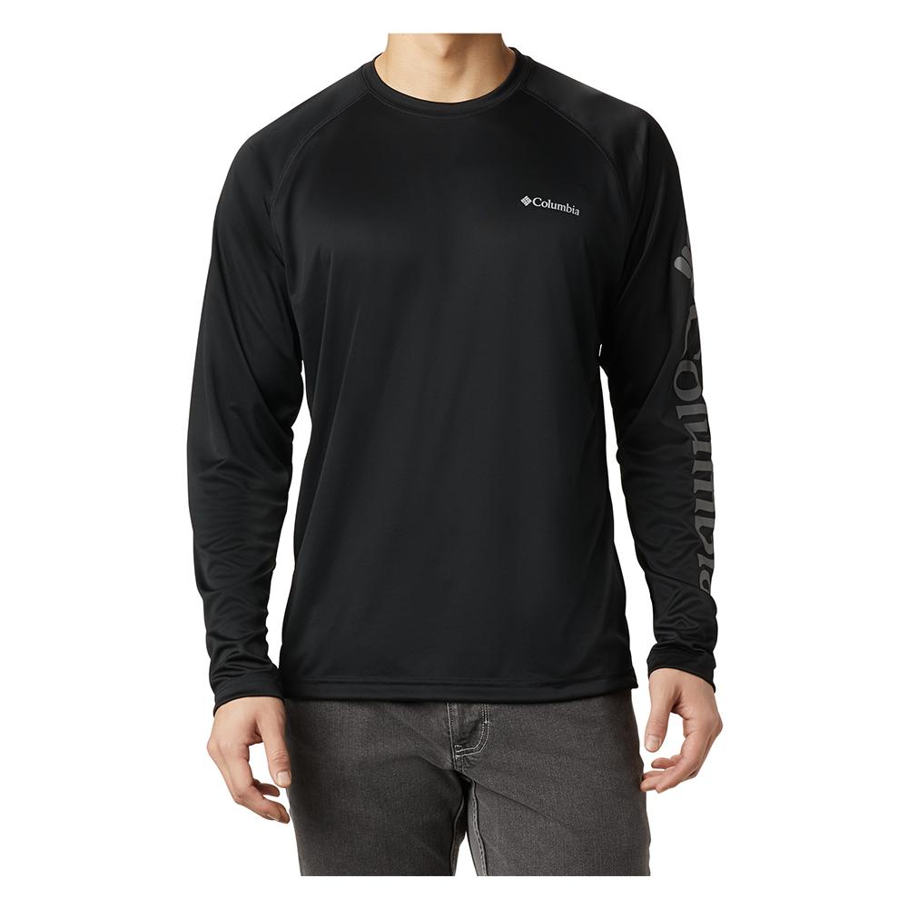 Columbia-Sportwear-Fork-Stream-Long-Sleeve-shirt-Quick-Dry-Big-Tall-Fish-UPF-BigCamo-Black