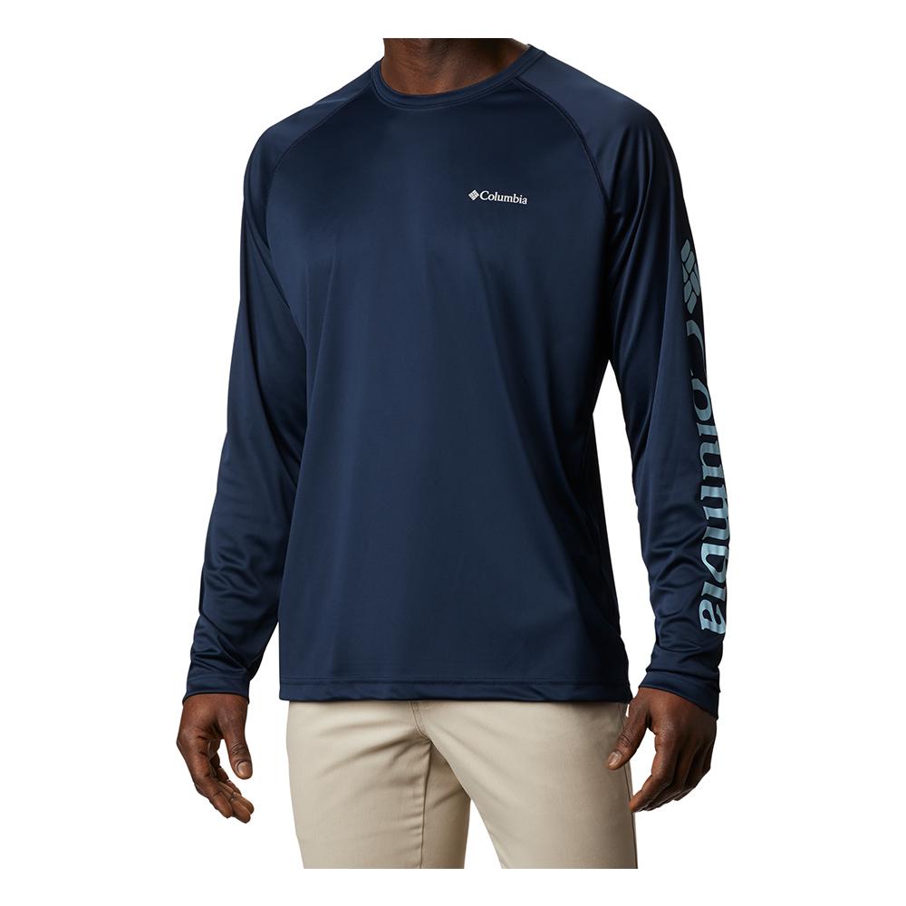 Columbia-Sportwear-Fork-Stream-Long-Sleeve-shirt-Quick-Dry-Big-Tall-Fish-UPF-BigCamo-Collegiate-Navy