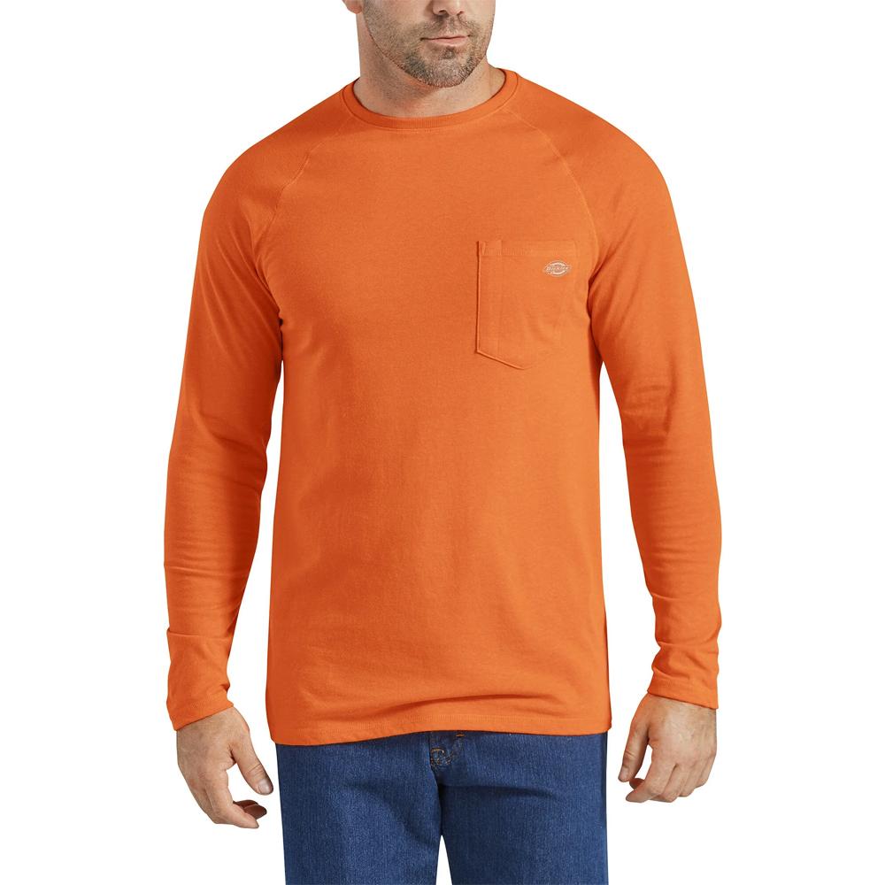Dickies-TempIQ-Long-Sleeve-Performance-Shirt-Big-Tall-BigCamo-HiVis-Orange