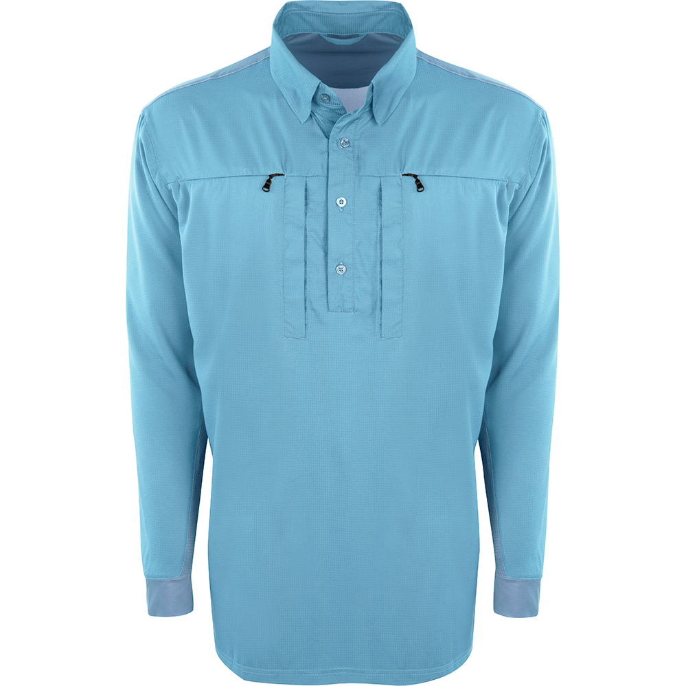 Drake-Performance-Fishing-Shield4-Cast-Away-Performance-Shirt-Carolina-Blue