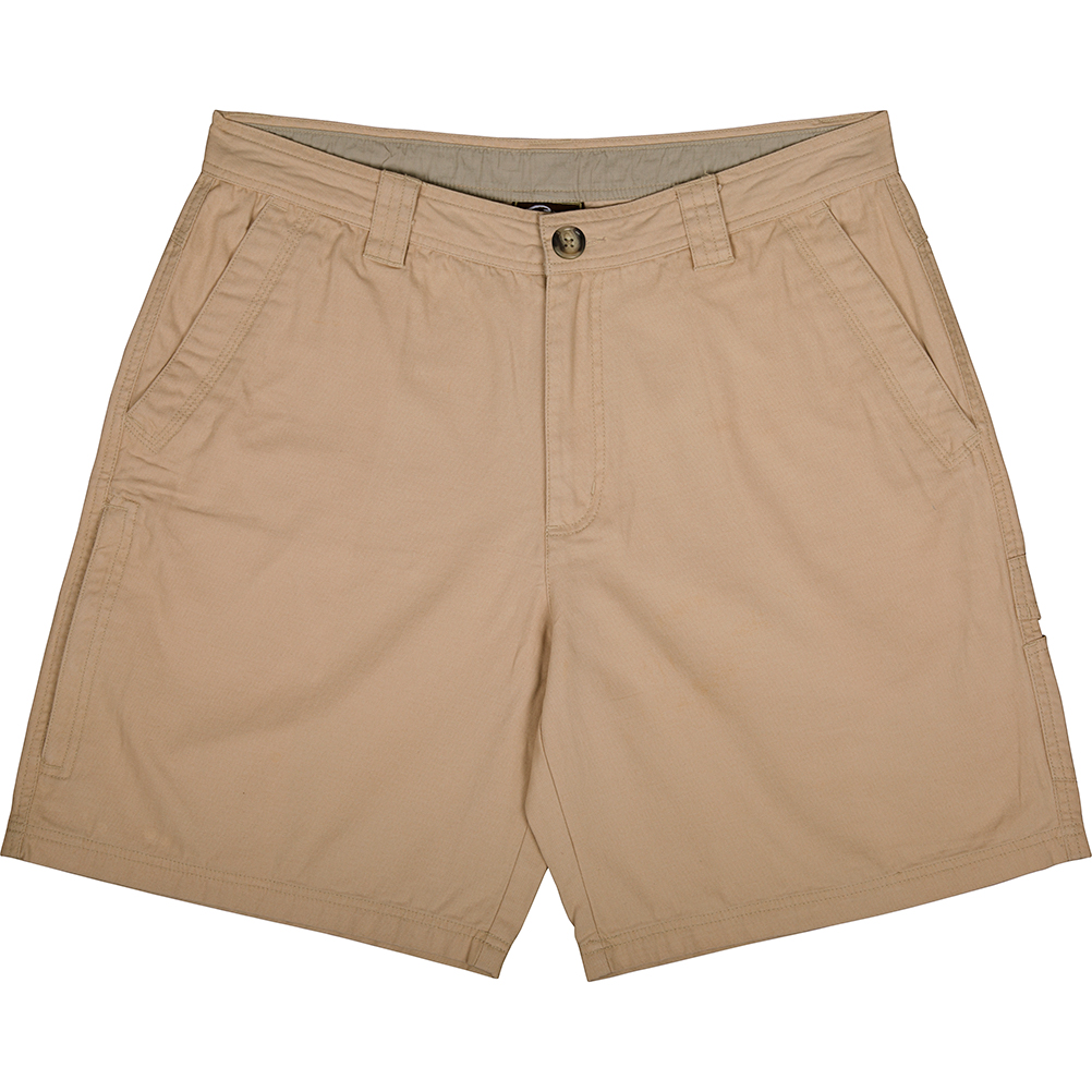Drake-Waterfowl-Casual-Washed-Cotton-Canvas-Shorts-Big-Tall-BigCamo-Hunt-Fish-Golf-Khaki