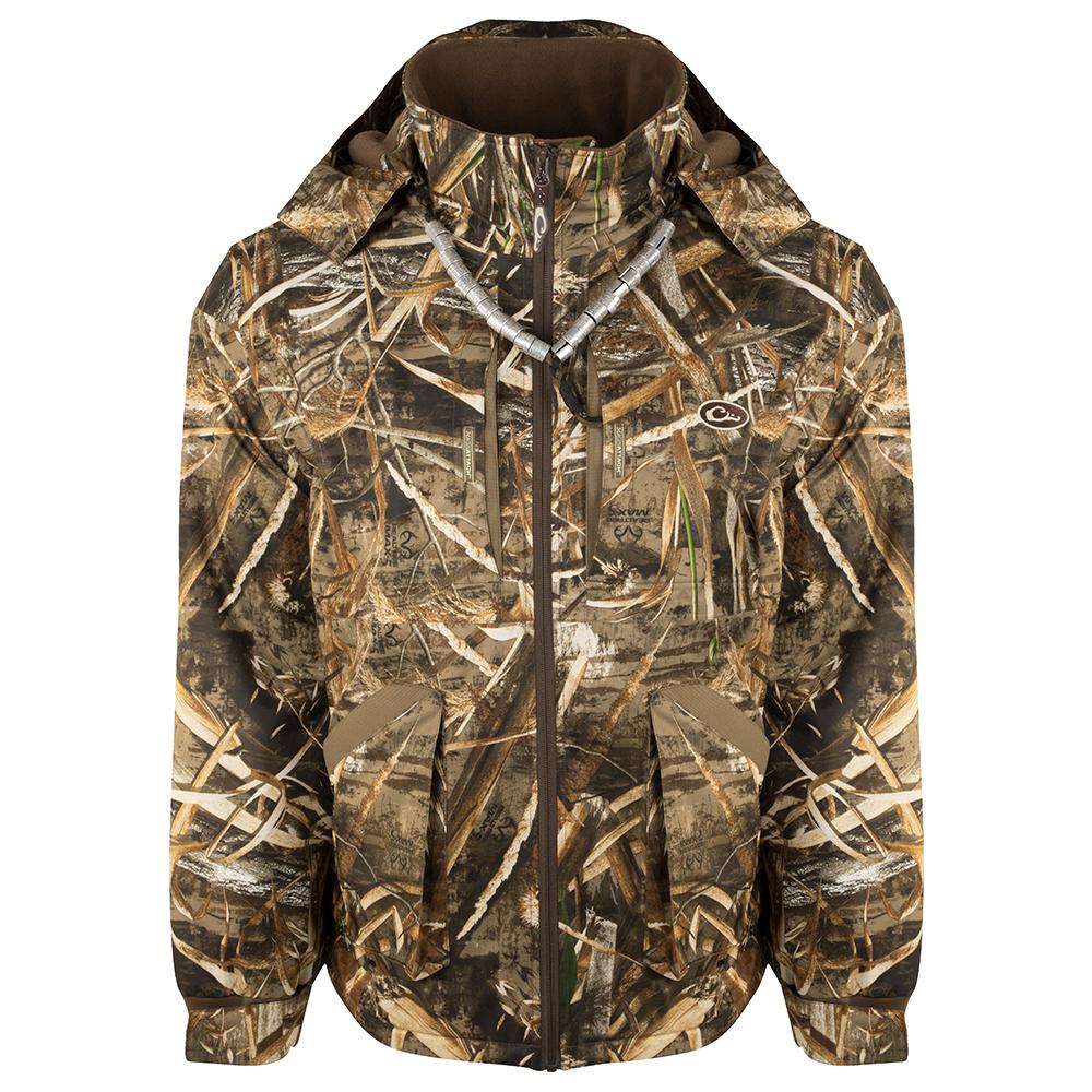 Drake-Waterfowl-Refuge-Wader-Jacket-Duck-Hunting-Big-Tall-BigCamo-Realtree-Max5