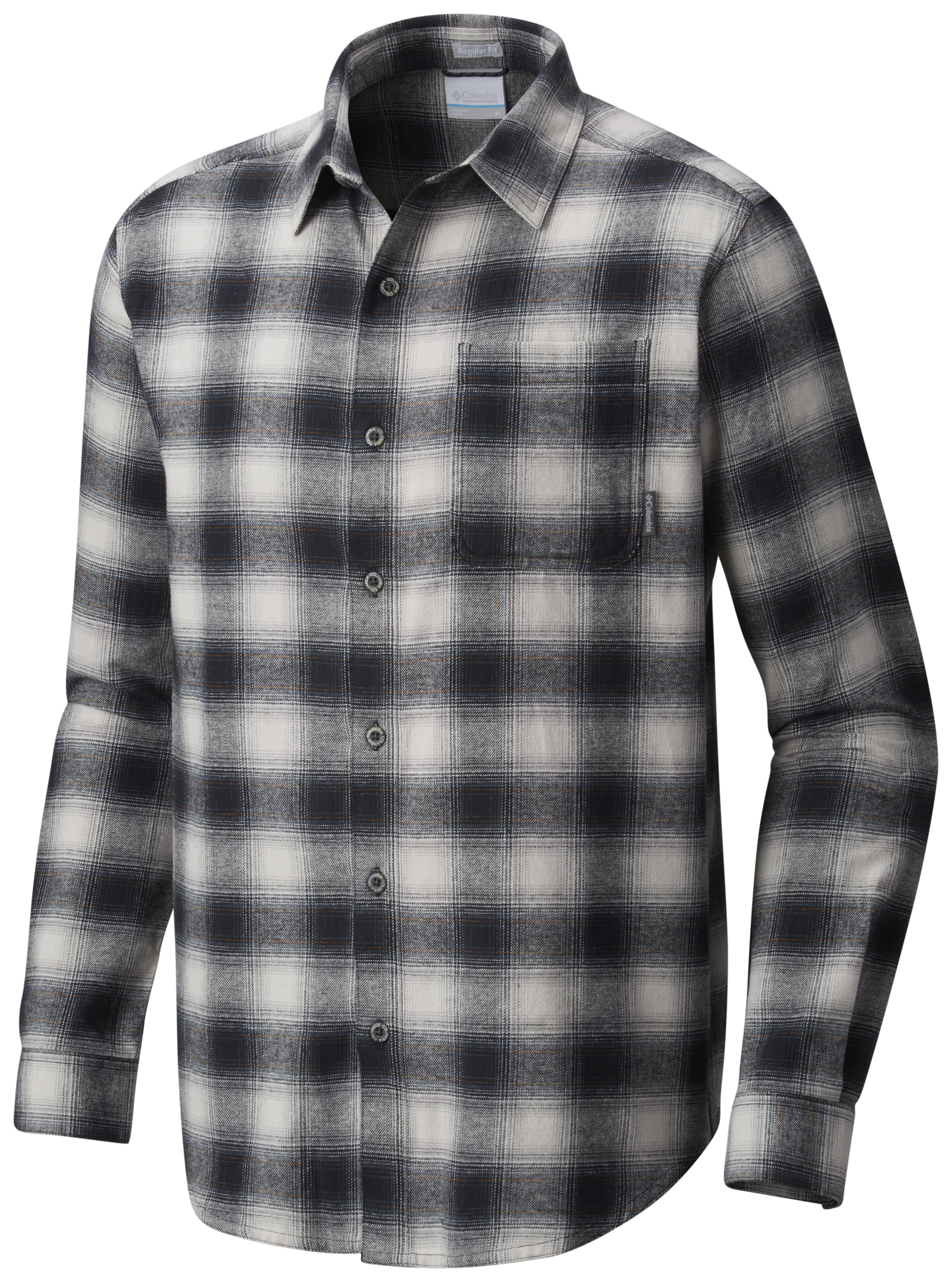 Columbia sportswear boulder ridge long sleeve flannel for Big and tall fishing shirts