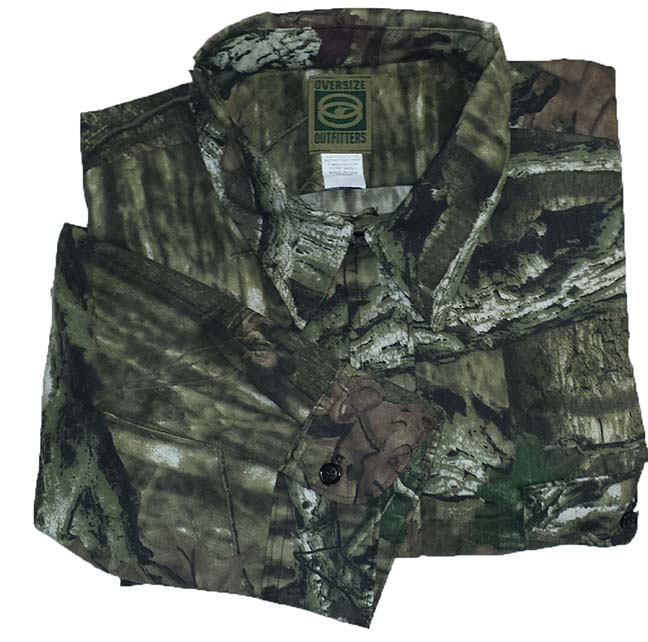Long sleeve button up mossy oak infinity big tall man shirts for Camo fishing shirt
