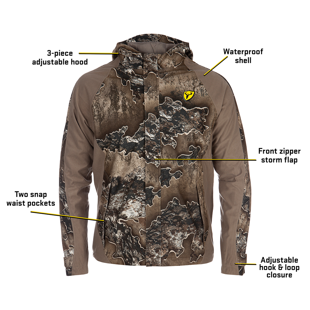 Scent-Blocker-Drencher-Waterproof-Jacket-Big-Tall-BigCamo-Realtree-Excape-callouts