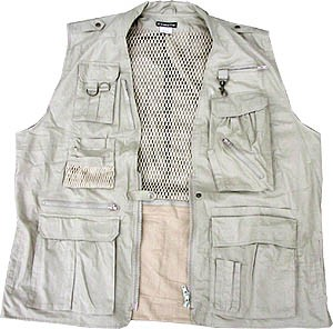 Safari Fishing Travel Vest In 5xl Big