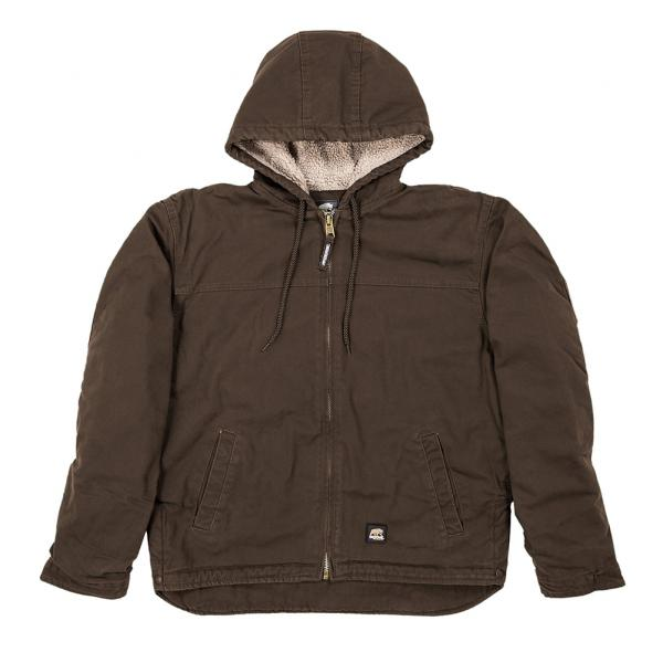 Berne-Apparel-Big-Tall-Washed-Hooded-Work-Coat-Bark