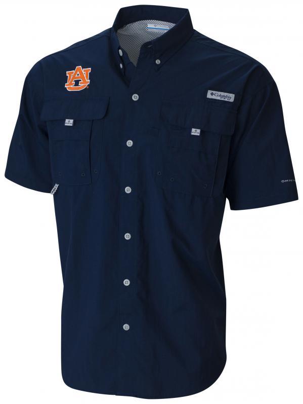 columbia sportswear collegiate short sleeve bahama shirt