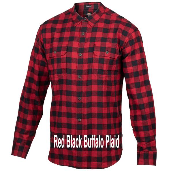 Dickies-Icon-Flannel-Red-Black-Buffalo-Plaid-Big-Tall-BigCamo-Name