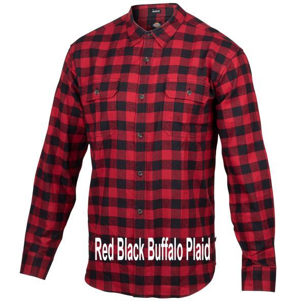 Dickies-Icon-Flannel-Red-Black-Buffalo-Plaid-Big-Tall-BigCamo-Name