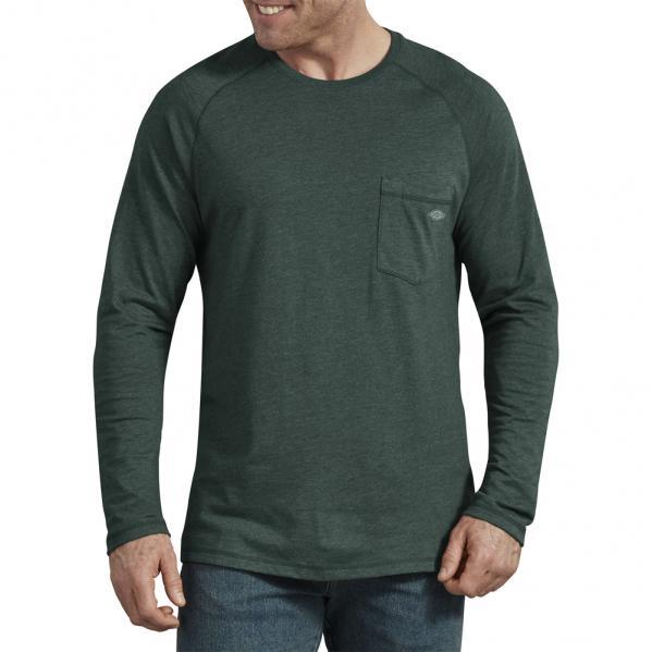 Dickies-TempIQ-Long-Sleeve-Performance-Shirt-Big-Tall-BigCamo-Hunter-Green