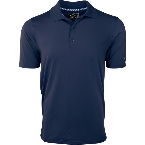 Drake-Waterfowl-Casual-Performance-Polo-Shirt-Big-Tall-Hunt-Fish-Golf-BigCamo-Dark-Blue