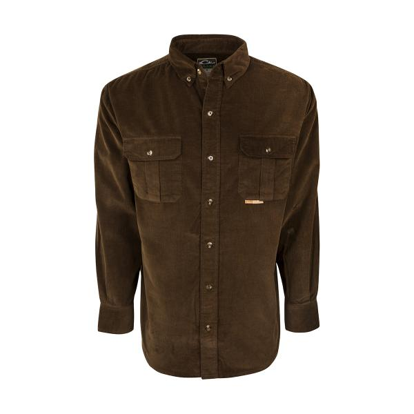 Drake-Waterfowl-Country-Corduroy-Shirt-Big-Tall-BigCamo