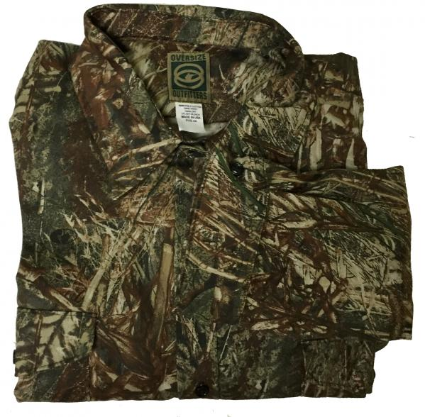 Mossy Oak Duck Blind Long Sleeve Button Up Shirt