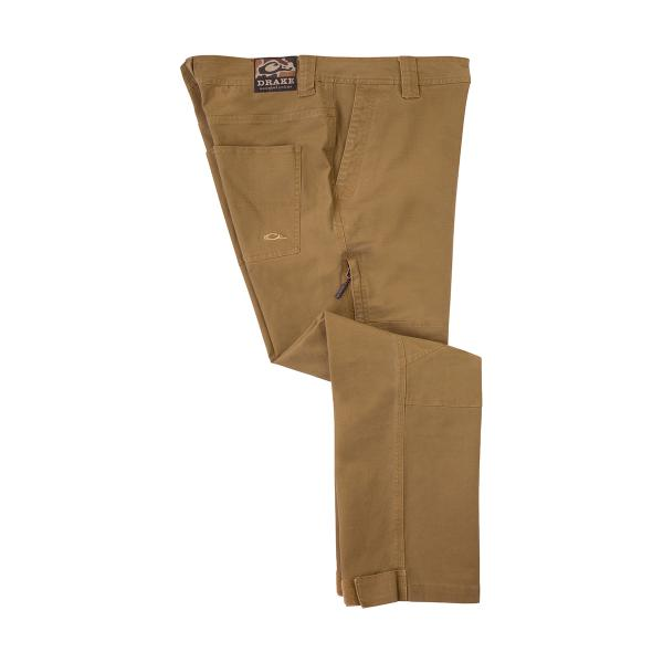 Khaki-Drake-Waterfowl-Canvas-Waterfowlers-Pant-Big-Tall-BigCamo