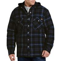 Dickies-Relaxed-Icon-Hooded-Quilted-Shirt-Jacket-Big-Tall-BigCamo-Dark-Blue-Gray-Plaid